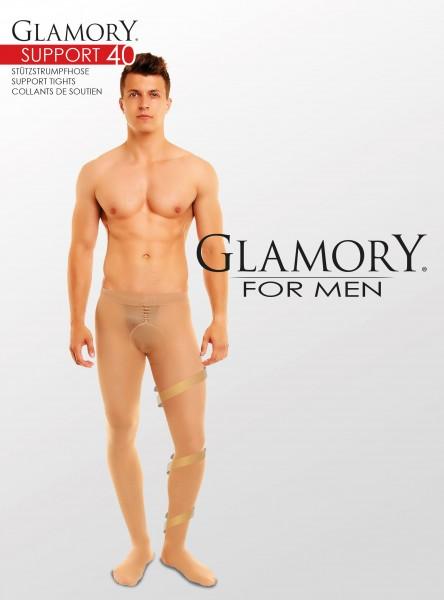Glamory Support 40 Herrenstützstrumpfhose (3er Pack)