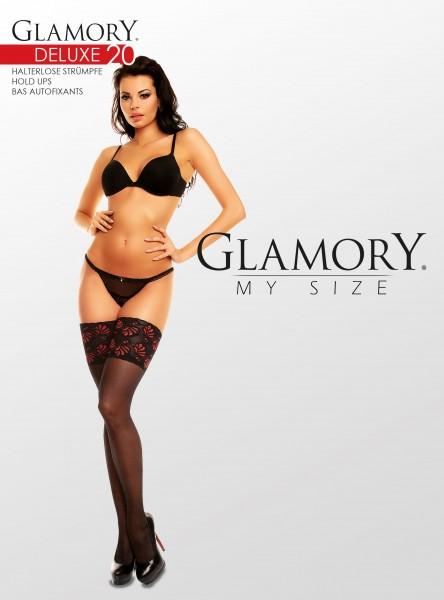 Glamory Deluxe 20 Halterlose Strümpfe (3er Pack)