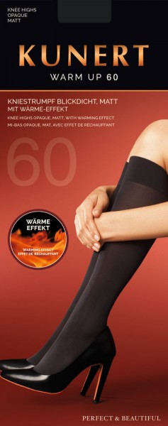 Kunert Warm Up 60 Kniestrumpf (3er Pack)