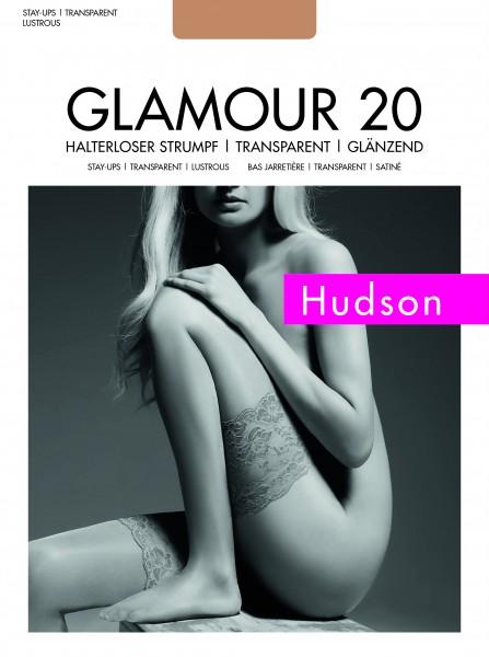 Hudson Glamour 20 Halterloser Strumpf (3er Pack)