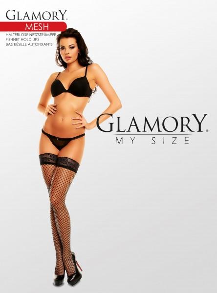Glamory Mesh Halterlose Netzstrümpfe (3er Pack)